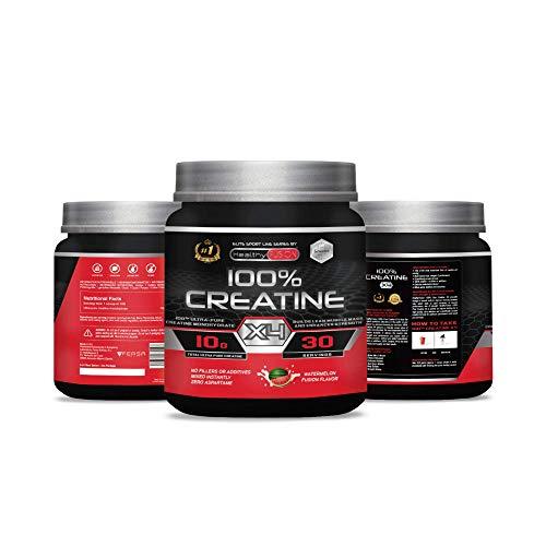 Creatina monohidrato pura microfiltrada con vitamina B6 | La única creatina 100% pura | Favorece el crecimiento muscular y la resistencia | Absorción rápida y completa | 30 tomas sabor a sandía