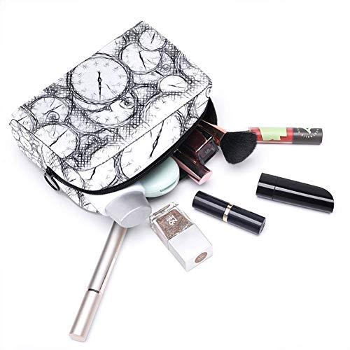 Cronómetro reloj reloj reloj cosméticos bolsa de maquillaje organizador para viajes portátil neceser para niñas y mujeres