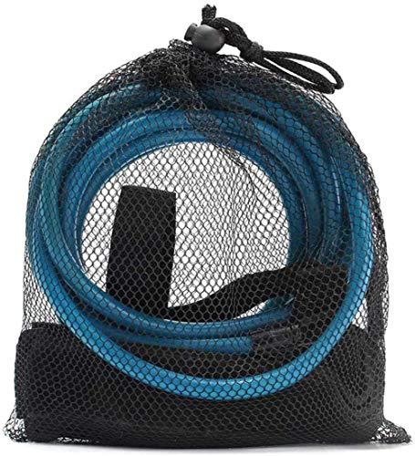 Cuerda de entrenamiento de natación, bandas de resistencia para natación, cuerda elástica para entrenamiento de resistencia estacionaria, herramientas de piscina, color azul