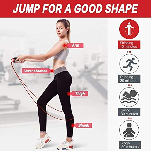 Cuerda de saltar ponderado 1LB, Pesado comba de 3M ajustable longitud de soporte se enreda Cuerdas de Saltar Por adulto, CrossFit, boxeo, MMA, entrenamiento de la aptitud, ejercicio Cardio cuerda de s