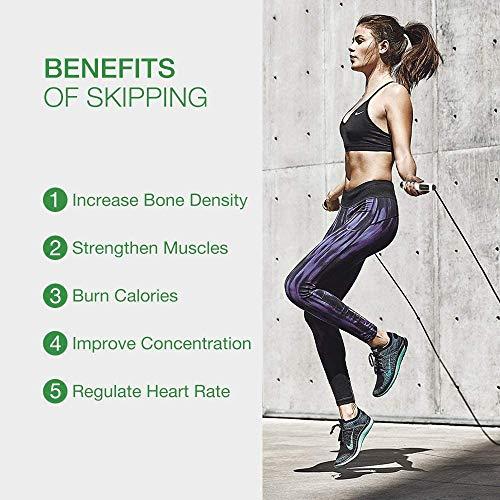 Cuerda para Saltar, Cuerda de salto ajustable antideslizante ABS digital con contador de calorías, alarma de cronometraje deportivo, equipo de pérdida de peso luminoso LED para Crossfit, Ejercicio