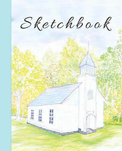 Cute Color Pencil Palmer Church in the Mountains Sketchbook for Drawing Coloring or Writing  Journal (Cool Creative Right Brain Brainstorming Journals)