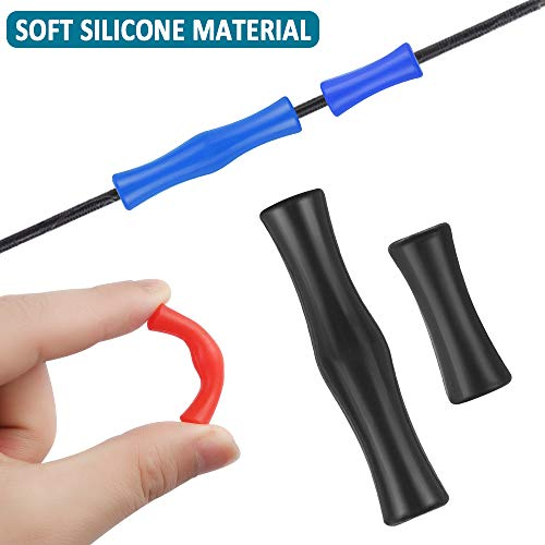 Dadabig 8pcs Protecciones de Tiro con Arco, Tiro con Arco Protector Dedo de Tiro con Arco Silicona De Tiro con Arco Accesorios de Arco y Flecha Apto para Principiantes