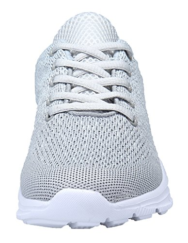 DAFENP Zapatillas Running Hombre Mujer Zapatos Deporte para Correr Trail Fitness Sneakers Ligero Transpirable (38 EU, Gris8)