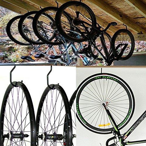 DANCEPANDAS 10 Ganchos para Bicicletas,bicicleta gancho Uso Pesado Juego de Montado,gancho para el techo para guardar bicicletas(Capacidad de carga 60 lbs / 25 kg)