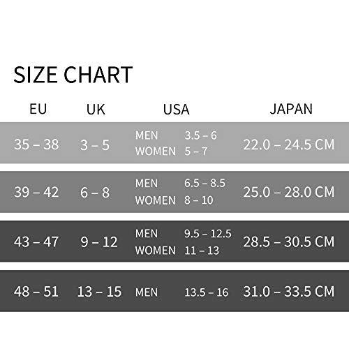 DANISH ENDURANCE Calcetines de Deporte Low Cut Pack de 5 (Multicolor: 2 x Negro, 2 x Gris, 1 x Blanco, EU 39-42)