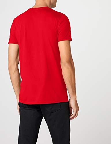 DC Comics - Camiseta de Flash con cuello redondo de manga corta para hombre, Rojo, Medium