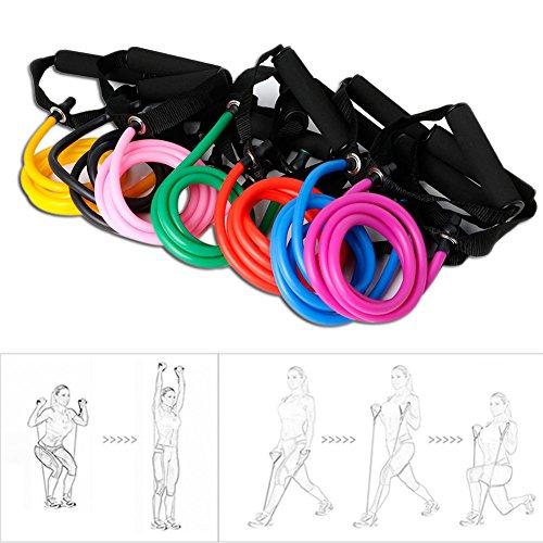 dedepeng - Comba de saltar, fitness, dispositivo de deporte para el hogar, resistencia de banda, cuerda de manguera, látex, ejercicios elásticos para gimnasio, yoga, pilates