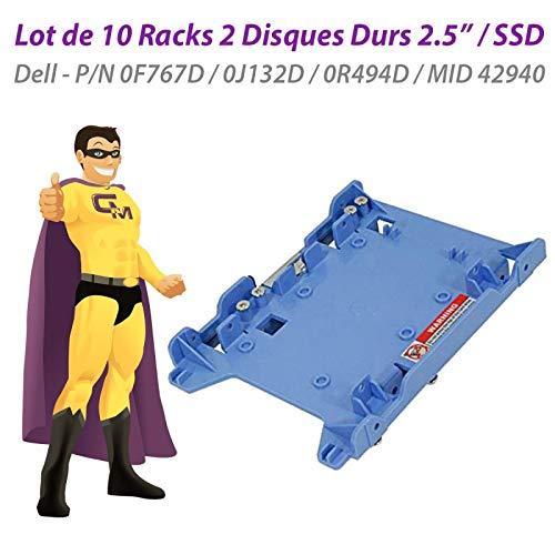 Dell - Lote de 10 Racks de 2 Discos Duros (2,5 Pulgadas, SSD 0F767D, 0J132D, 0R494D, Mid 42940 Caddy)
