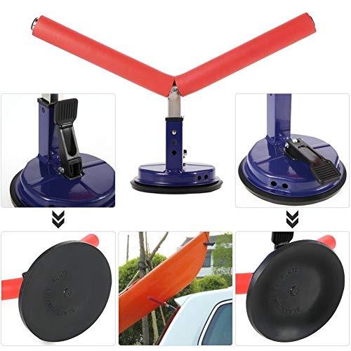 Desmontable Kayak Rack de Altura Ajustable Soporte for Kayak Montaje del vehículo de Soporte Cuna con succión for el Coche Kayak Pesca Rafting Esquí Camping Playa Accesorios (Color : Red)
