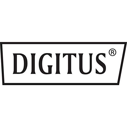 """DIGITUS Professional - Estantería para fijación permanente a armarios de 483 mm (19"""") - DN-19 TRAY-1-400-SW - Adjunto en frente, carga 15 kg, desde 600 mm profundidad, 1 unidades de altura, color negro"""