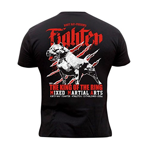 Dirty Ray Artes Marciales MMA The King of The Ring Camiseta Hombre T-Shirt K74C (XL)