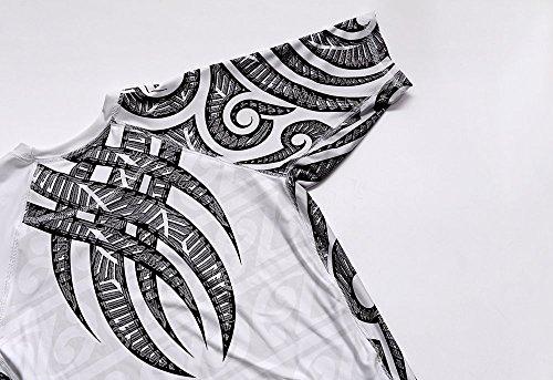 Dirty Ray Artes Marciales MMA Tribal Tattoo camiseta rashguard hombre RG4 (L)