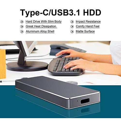 Disco Duro Externo 2tb Type C USB 3.1 para Mac, PC, MacBook, Chromebook, Xbox (2tb, Azul)
