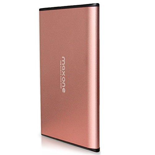 "Disco duro externo 500GB - 2.5"" USB 3.0 Ultrafino Diseño Metálico HDD Portátil para Mac, PC, Laptop, Ordenador, Xbox one, PS4, Smart TV, Chromebook - Rose Pink"