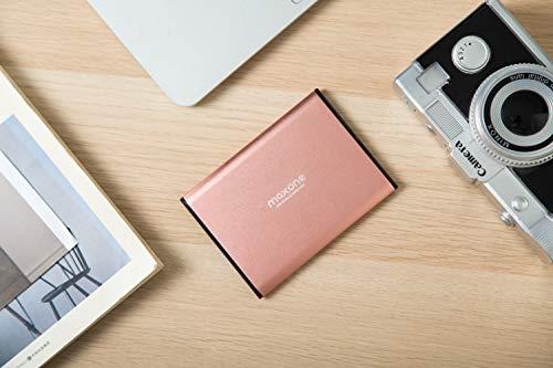 "Disco duro externo Portátil 320GB - 2.5"" USB 3.0 Ultrafino Diseño Metálico HDD para Mac, PC, Laptop, Ordenador, Xbox one, PS4, Smart TV, Chromebook - Rose Pink"
