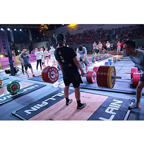 Discos de Pesas Discos Olímpicos Única de goma Peso Disco de la placa de la pesa de barra, discos olímpicos fraccionales pegatina de entrenamiento de la fuerza placas de pesas Fitness Equipment Discos
