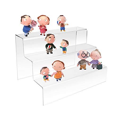 Display4top 3 Escalones Expositor de esmaltes de uñas, de metacrilato (200 * 300 * 200 * 2)