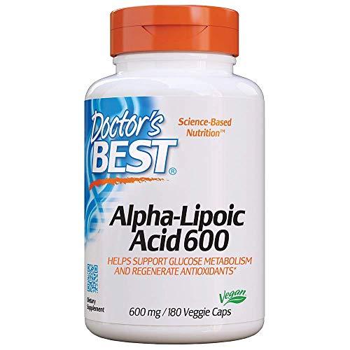 Doctor's Best Alpha Lipoic Acid, 600mg - 180 vcaps 180 unidades 240 g