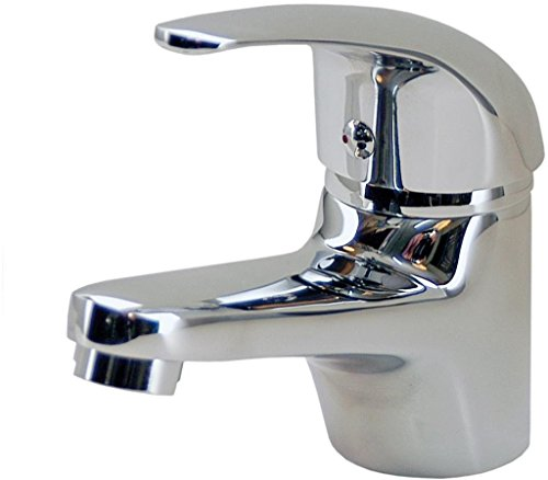 DP Grifería - Grifo monomando de lavabo, color plateado, serie Naranjo