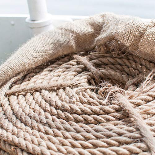 DQ-PP CUERDA DE YUTE   Longitud 10m   Grosor 22mm   Cuerda de Fibra 100% Natural Marrón   Cuerdas decorativa   Decoracion de bricolaje   Macramé   Accesorios de Jardin