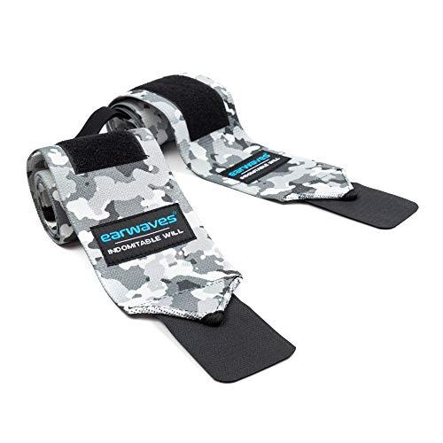 Earwaves ® - Muñequeras Crossfit Ideales para Calistenia, Halterofilia, Weightlifting, Deadlifting, etc. Par de muñequeras Deportivas para Hombre y Mujer. 50cm