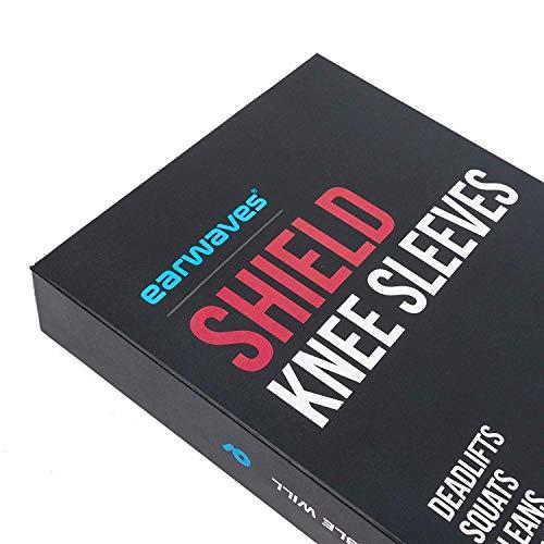 Earwaves ® Shield Knee Sleeve - Rodillera 5mm de neopreno para CrossFit, Weightlifting, Powerlifting, Lunges, Halterofilia. (1 unidad)