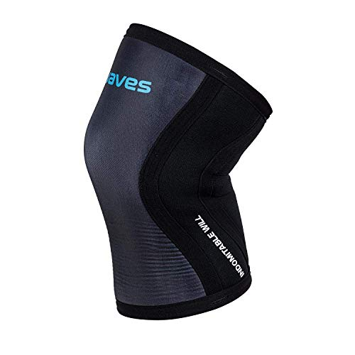 Earwaves ® Shield Knee Sleeve - Rodillera 7mm de neopreno para CrossFit, Weightlifting, Powerlifting, Lunges, Halterofilia. (1 unidad)