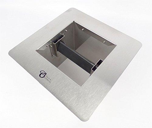 EDESIA ESPRESS - Marco de encimera para tirar posos de café - Para cafetera exprés - 245 x 245 x 152 mm