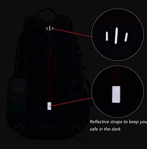 EGOGO 30L mochila de senderismo al aire libre ciclismo resistente al agua corriendo mochila escaladacon lluvia cubierta S2316 (Rojo)