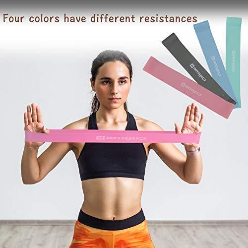 EKKONG Bandas Elásticas Set Bandas de Resistencia 6 Gomas Elasticas Gomas elasticas para Mujeres y Hombres, Pilates,Yoga,Rehabilitación,Estiramiento, Entrenamiento. (6set)