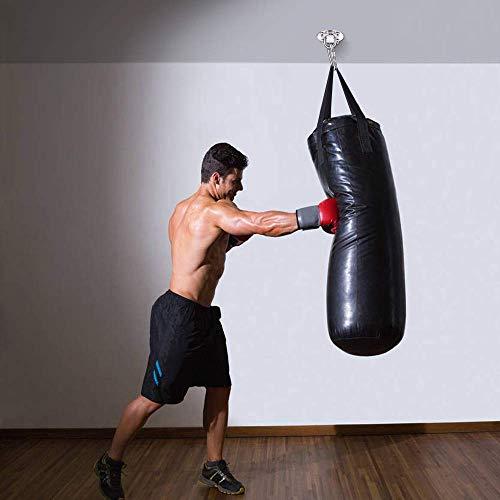 EKKONG Ganchos Techo Suspensión, Profesional Acero Inoxidable Gancho para Columpio Del Amor Colgar Boxeo Soporte Hamaca Sacos de Arena, Capacidad de Carga de Hasta 400 KG (U)