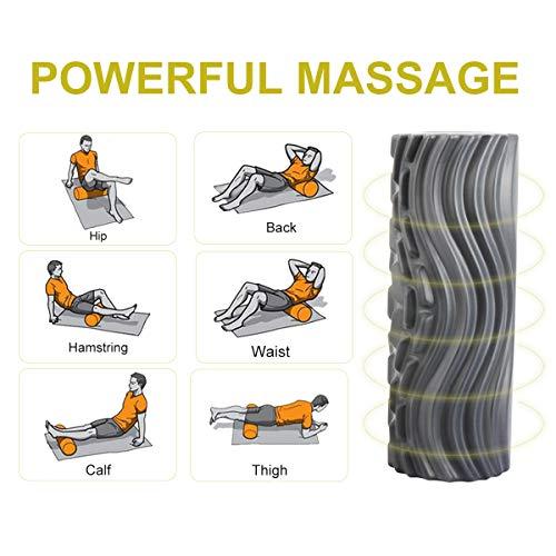 Eléctrico Rodillo de Espuma, Ejercicios Musculares Eléctrico Foam Roller Masaje Muscular, 5 Velocidad Rodillo de Espuma para Terapia de Masaje Equilibrio Tejido Profundo Liberación Miofascial Fitness