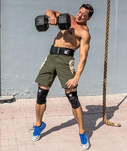 Element 26 Autoblocante Levantamiento de Pesas cinturón   Crossfit, Levantamiento de Pesas, Estiramiento Facial y Atletas olímpicos (pequeño, Negro)