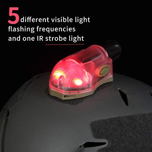 element airsoft 【Tienda Oficial Manta Strobe Tactical Signal Light con IR Military Survival Flashlight Camping Flash Support Rescate rápido Adventure Light Military Tactical Light