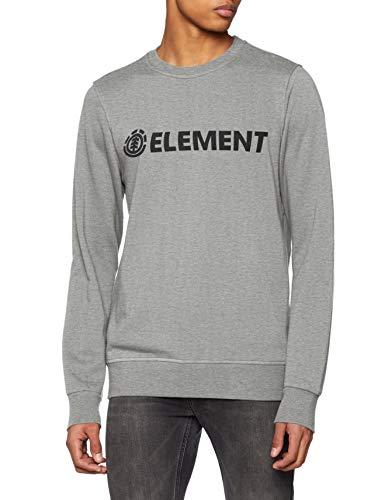 Element Blazin Crew Sudadera, Hombre, Gris (Grey Heather), S