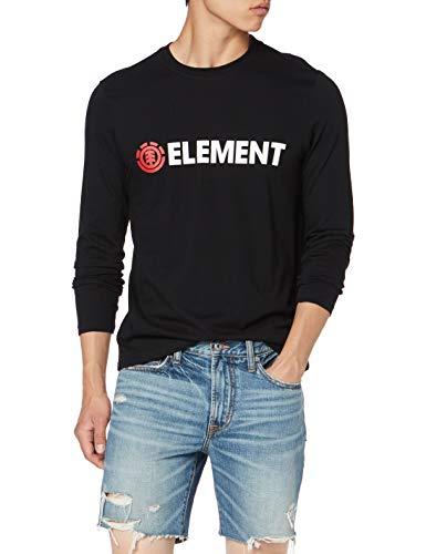 Element Blazin LS tee Shirt, Hombre, Flint Black, M