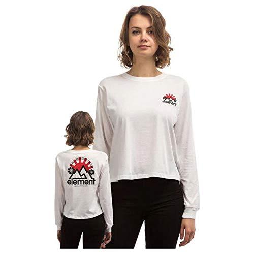 Element Rising Crop - Camiseta de manga larga para mujer Blanco blanco S
