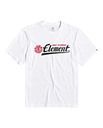 Element Signature SS Tees, Hombre, Optic White, S
