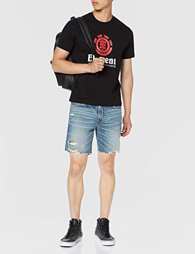 Element Vertical - Camiseta de Manga Corta para Hombre Camiseta de Manga Corta, Hombre, Flint Black, XS