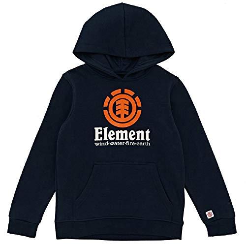 Element Vertical Hood Boy Fleece, Niños, Eclipse Navy, 8