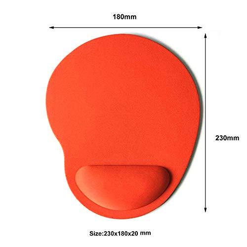 Emilyisky EVA Foam 3D Mouse Pad reposamuñecas Mousepad Alfombrillas Alfombrillas para Gamer Orange
