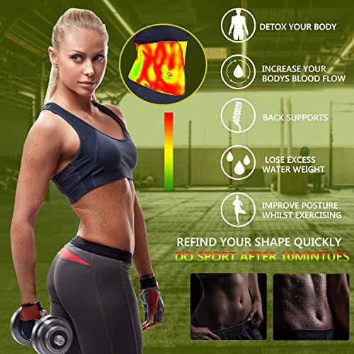 Emooqi Faja Reductora, Trimmer de Cintura Neopreno Cinturón de Sudor,Cinturón de Fitness para acelerar la pérdida de Peso,Quema de Grasa,Efecto Sauna,Faja Reductora Adelgazante para Hombre y Mujer