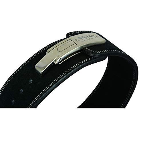 EMRAH Pro Buff Hide Cinturón de Levantamiento de Pesas para Hombres y Mujeres | Durable Cómodo (Negro, XL)
