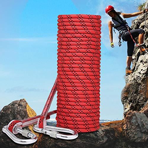 ENJOHOS Cuerda Auxiliar de Escalada en Poliéster/NylonCarga 900kg para Rescate de Montañismo (10M)
