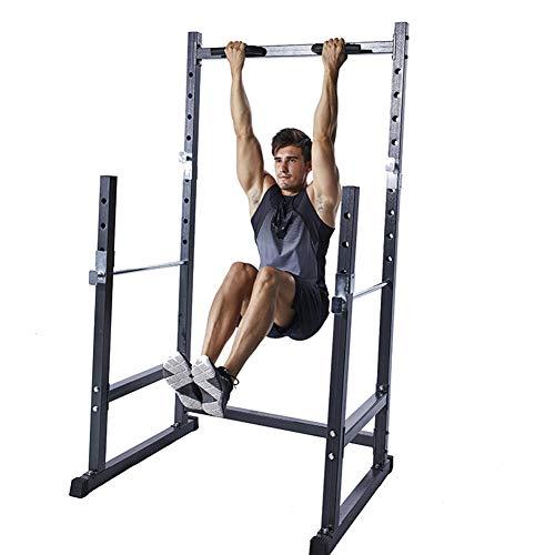 EnweLampi Multifuncional para Squat Rack,Acero Hogor Rack Squat,Hogar Musculacion Levantamiento Fitness Equipo,Inicio Ejercicios Accesorios
