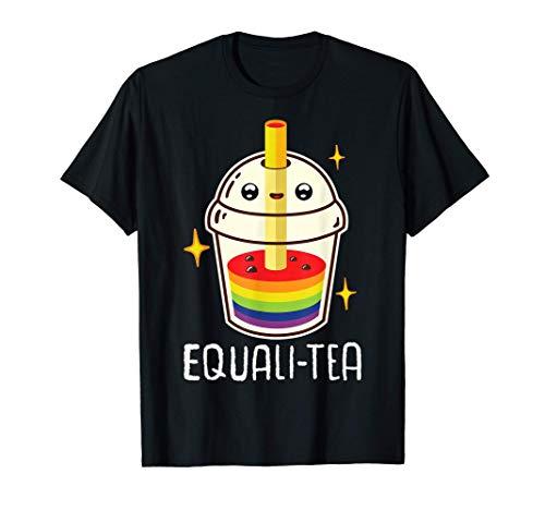Equalitea Bubble Tea Mug Boba Tea Milk Gay LGBT Pride Kawaii Camiseta