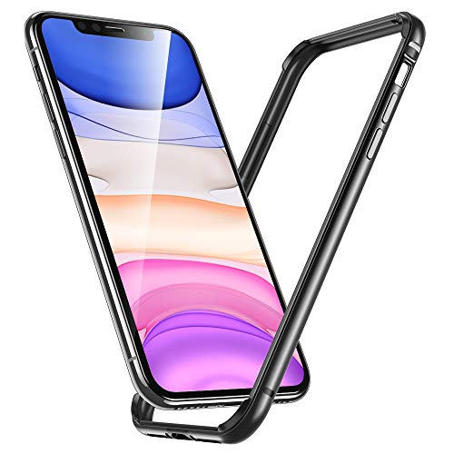 """ESR Funda para iPhone XR, Bumper Aluminio iPhone XR con Suave TPU Interno [No Afecta Señales] [Protección de Borde Elevado] Bumper Frame para Apple iPhone XR DE 6.1""""-Gris"""