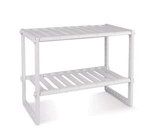 Estantería modular de 2 niveles para interior armarios y muebles (50x70x40 cm)
