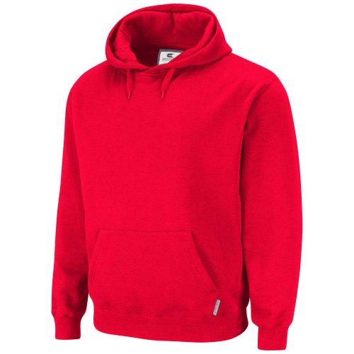 Estrella y rayas - De talla grande rojo sudadera de estilo clásico unisex (para hombre y para mujer) con capucha